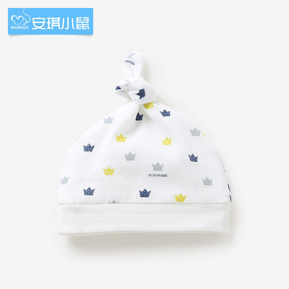 Angel mouse newborn baby hat baby hat summer spring and autumn gauze breathable cotton newborn baby hat