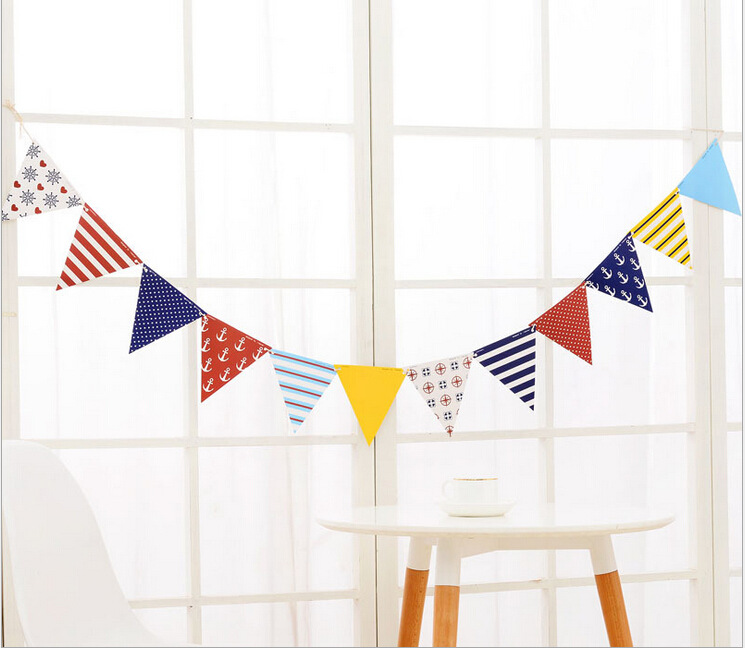 Paper Bunting Pennant Flags Banner Garland 派对装饰彩旗