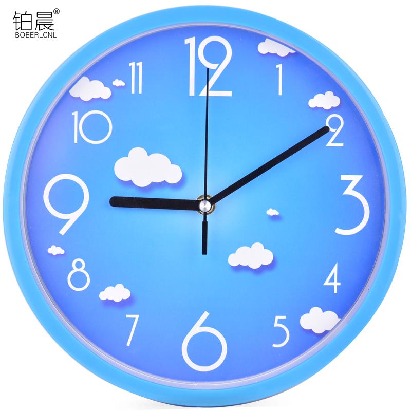 铂晨静音挂钟客厅个性钟表现代简约钟时尚石英钟圆形时钟创意挂表