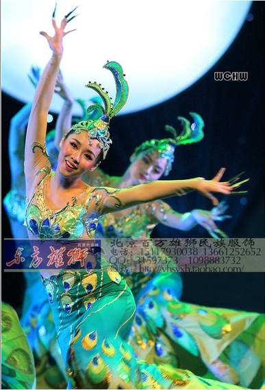 Bibo Peacock Dance Costume Green Peacock Peach Li Cup Dance Competition Costume Dai Dance Costume Women's Group Dance