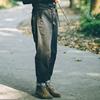 靴子牛仔裤牛角宽松格子
