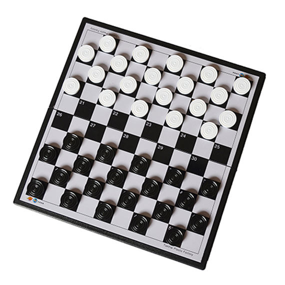 Authentic friend Ming magnetic international checkers folding chess board children learning training class recommended 100 grid 64