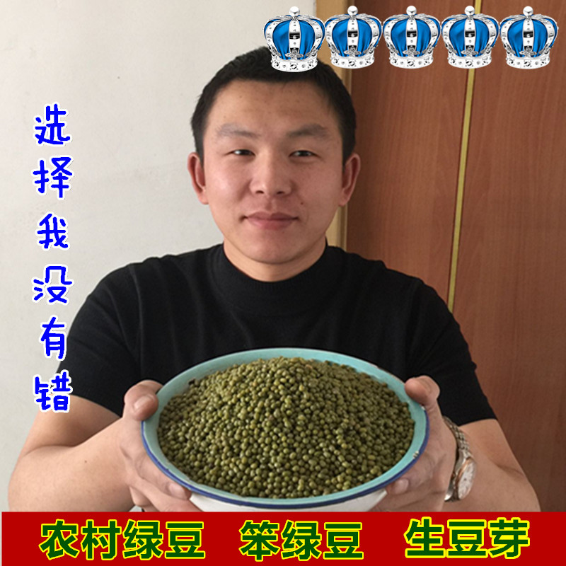 2017年新绿豆东北特产黑龙江五谷杂粮笨生绿豆芽500克