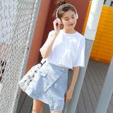 2019夏款 时尚长款T恤+牛仔裙两件套连衣裙