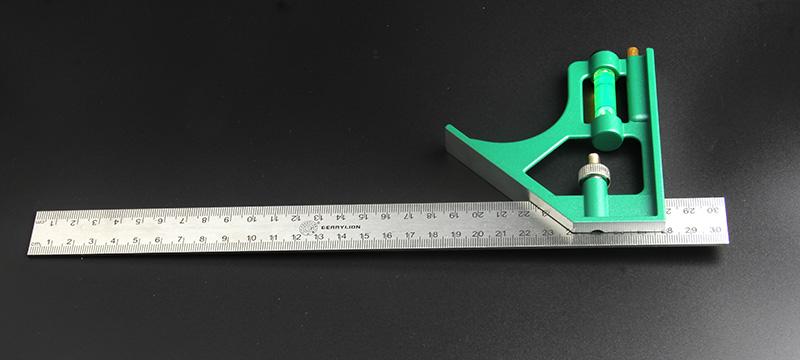 百威狮不锈钢多功能组合角尺木工水平直角尺活动式加厚钢板尺拐尺