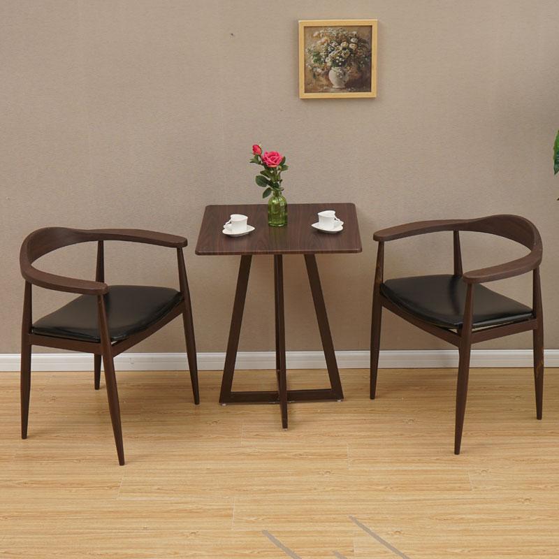 简约休闲咖啡桌圆桌小户型洽谈桌餐桌阳台桌桌椅组合一桌四椅两椅