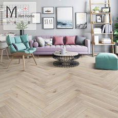 Millet family word spell floor personality Nordic retro fish bone mosaic enhanced laminate flooring factory direct
