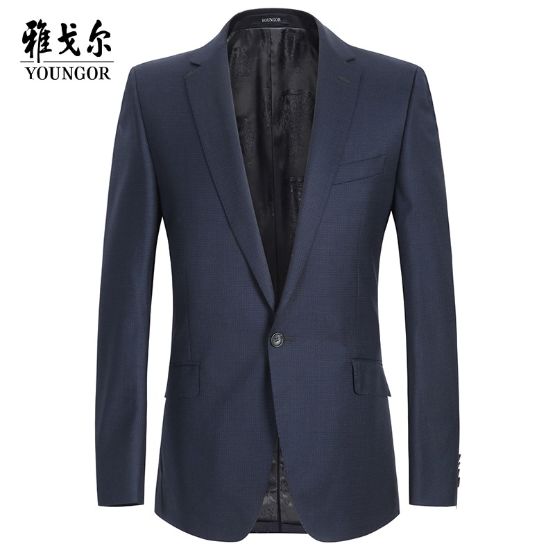 Youngor/雅戈尔男士西服上衣商务正装职业西装羊毛单西正品男外套
