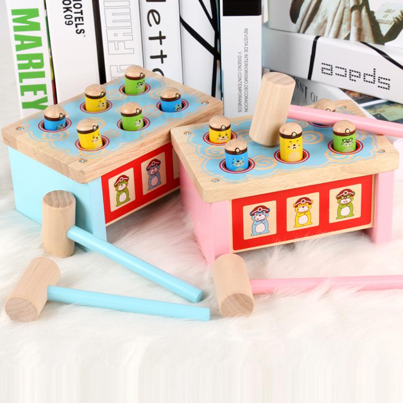 宝宝打地鼠婴幼儿童早教木质益智男女孩大号砸敲击玩具1-3-6周岁