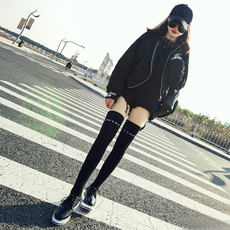 Long stockings female over the knees autumn and winter Korean college wind stovepipe socks cotton long socks female Korean version of the knee socks female Japanese