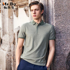 Mr. cloth short-sleeved t-shirt polo shirt men's new summer clothing middle-aged business casual lapel on the body