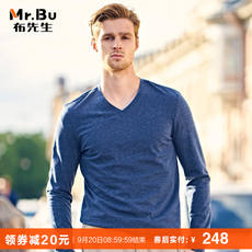 Mr. cloth long-sleeved T autumn new style bottoming shirt V-neck men's shirt men's long-sleeved t-shirt BT3780