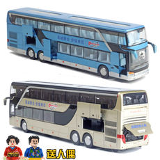New product 5 door alloy double-decker bus model simulation travel bus bus bus children's toy car