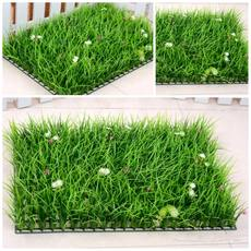 Direct sales indoor fake lawn with flowers plastic grass simulation green plant wall high grass encryption balcony decoration artificial turf