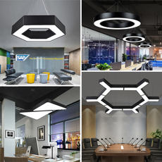 Office chandelier creative personality LED simple modern office building Internet cafe engineering modeling industrial wind lamps