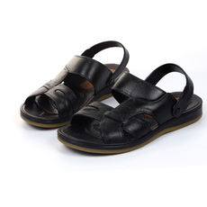 Summer beach shoes sandals men middle-aged non-slip wear-resistant thick-soled open toe rubber shoes dad shoes