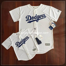 [Genuine]MLB Major League youth embroidery section Los Angeles Dodge Couple parent baseball clothing