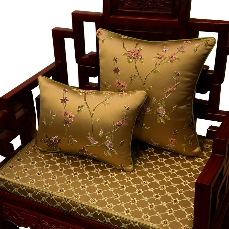 中式沙发坐垫,传承华丽婉约之美