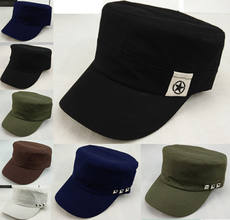 Spring and Autumn Men's Flat Cap Middle-aged Hat Men's Spring and Summer Thin Sunshade Cap Cotton Middle-aged Dad Cap