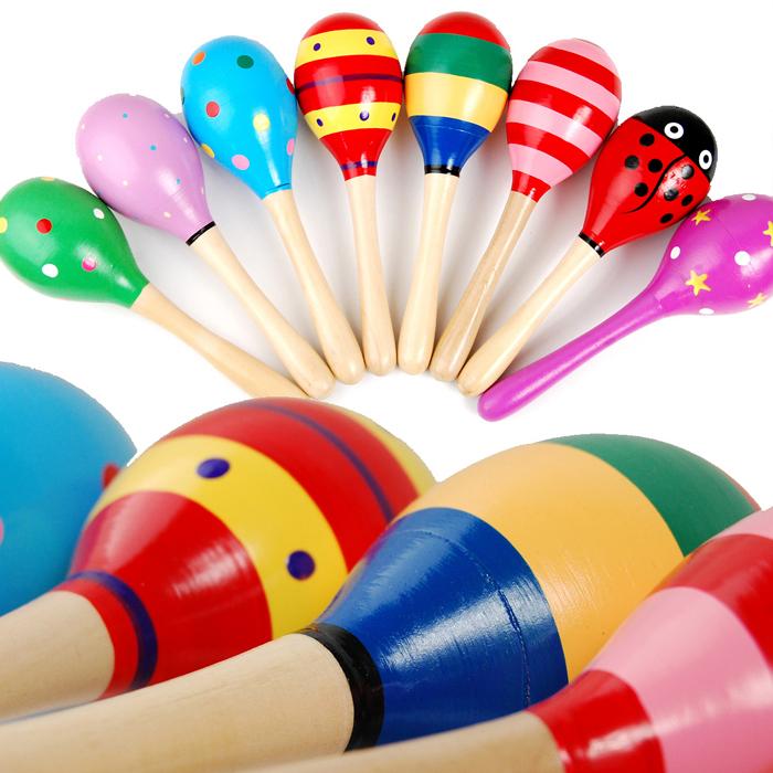 奥尔夫音乐 木制小号沙锤/摇铃玩具 益智幼儿早教玩具 锻炼听力