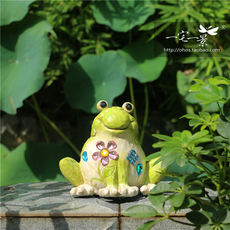 One home and one scene │ home garden decoration garden decorations home garden resin crafts frog ornaments