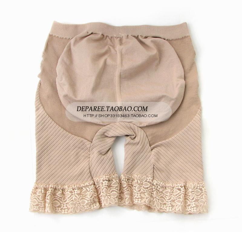 台湾蒂巴蕾收腹提臀塑身裤蕾丝边覆盆莓塑裤5823正品
