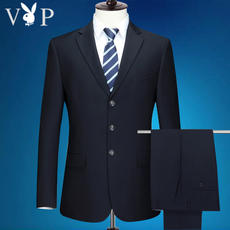 Playboy VIP middle-aged suit men suit business suit dress middle-aged father dress wedding casual