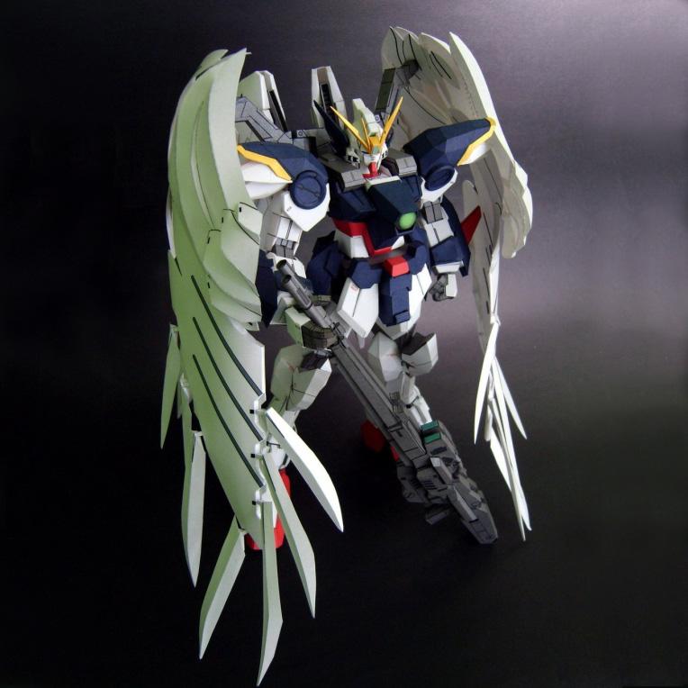 满68包邮 3D纸模型手工拼装diy 零式飞翼天使高达PG/MG正比珠光版