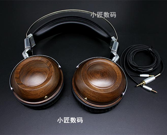 胡桃木头戴式发烧HIFI 耳机 50MM木头戴耳机壳 重低音音乐耳机