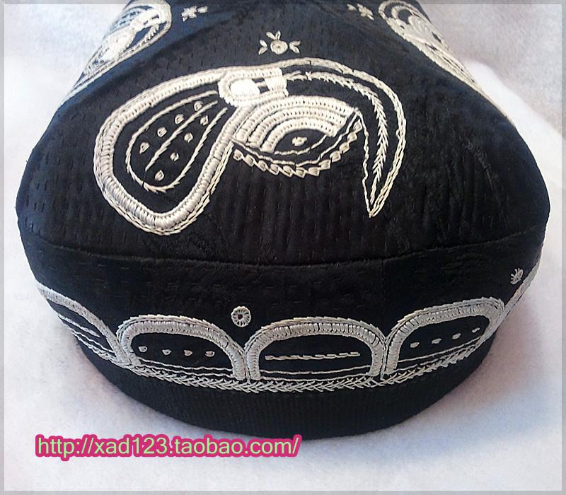 新款新疆维吾尔手工制作本土民族喀什巴达木花包邮新疆帽子男