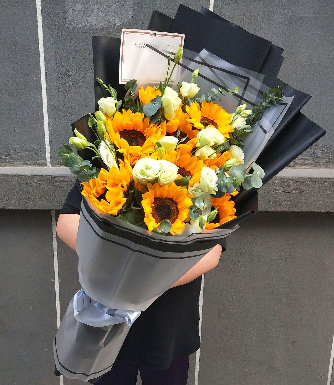 查看淘宝特价鲜花 向日葵 超大花束 高档花篮长春鲜花速递 生日鲜花图片