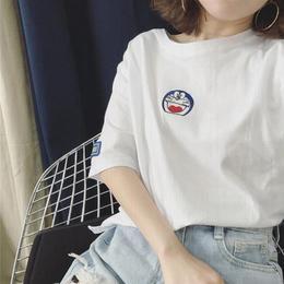 韩国初中生休闲裤女夏装薄女学生白t恤夏季制服欧货圆领户外上衣