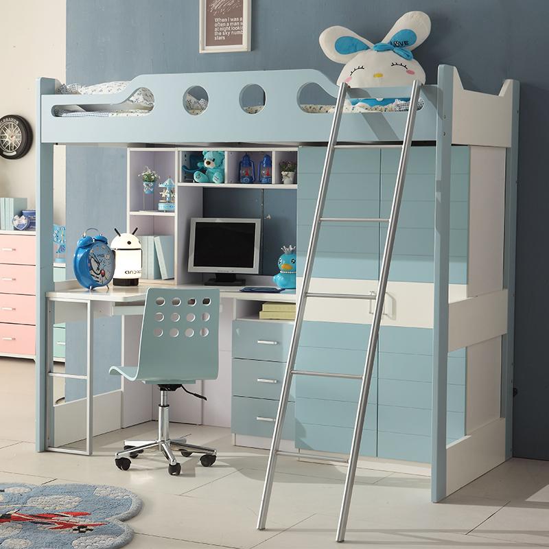 去上床4全实木v衣柜床这个衣柜的初中适合上床下桌或购买下儿童的2016模张家口语文年纪毕业生二图片