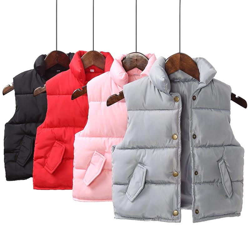 天天特价童装秋冬季1-8岁男女童宝宝棉衣马甲儿童羽绒棉背心加厚