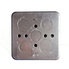 Zhengtai electrician floor socket bottom box 100*100*60 universally inserted cassette NED1-20200 galvanized iron