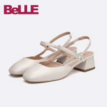 Belle / Belle sandals mall with sheepskin thick heel Mary Jean shoes bvs37bh8 pictures
