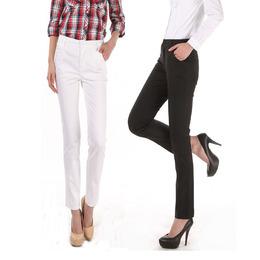 2015春夏装新款韩版女装弹力直筒休闲裤大码修身显瘦长裤子