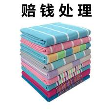 Old coarse cloth sheets single piece thick cotton linen dormitory single double summer cool season single sheet 1.5m 1.8m rice bed