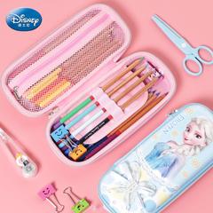 迪士尼笔袋大容量多功能简约女童小清新铅笔盒冰雪奇缘可爱女生三层笔盒创意2-5年级小学生幼儿用文具盒笔袋