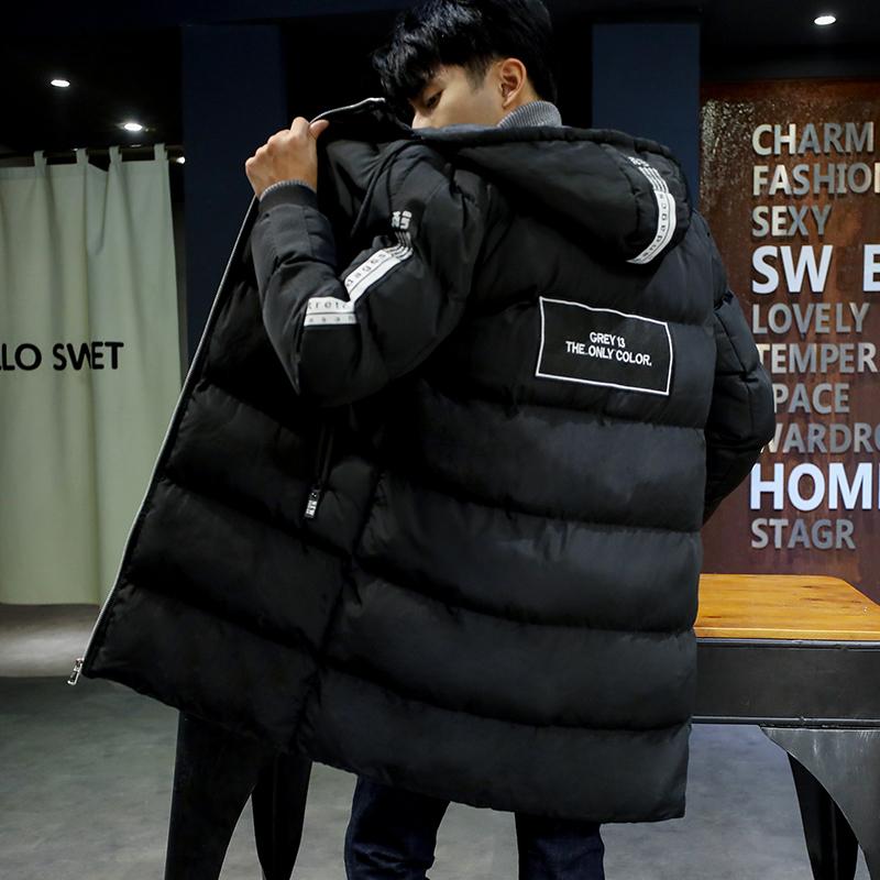 青少年棉衣男生冬季初中高中学生棉袄冬装中长款羽絨棉服加厚外套