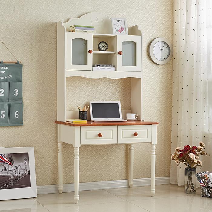 —  — 地中海实木带书架书桌 去购买  地中海的设计风格时尚美观图片