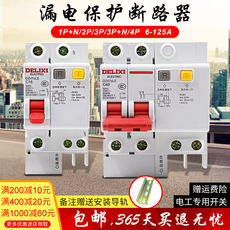 Delixi new protector DZ47SLE household 2P leakage protection 32A circuit breaker 63A air switch with leakage