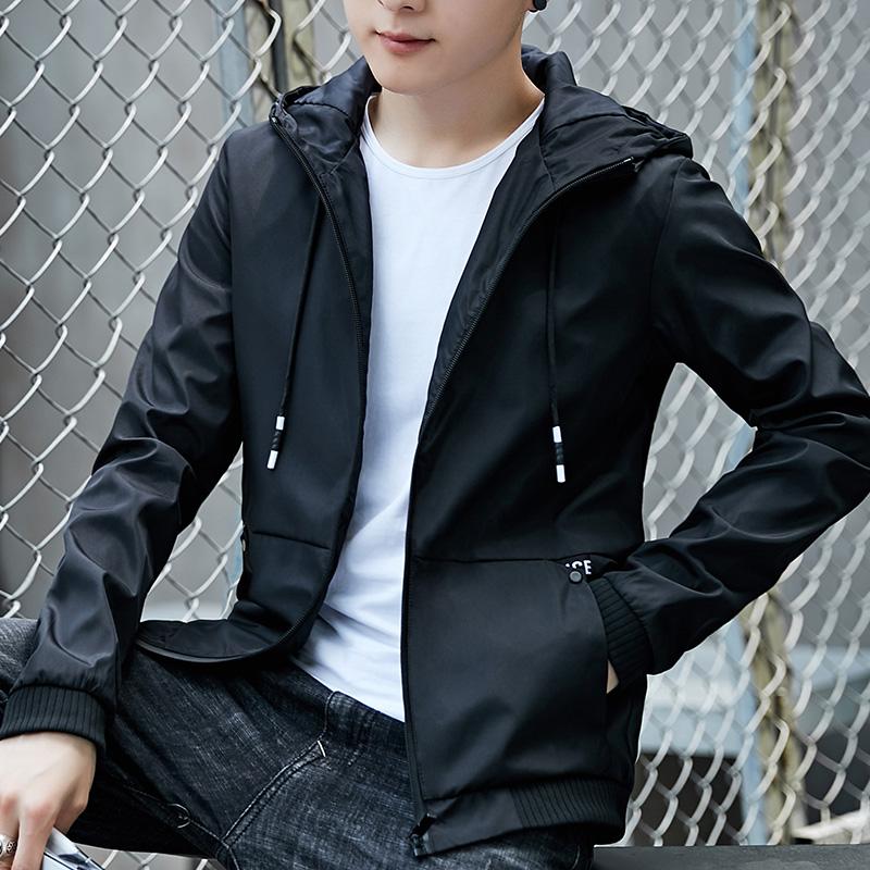 男士外套春秋季2018新款韩版夹克男外衣服潮流帅气男装薄款棒球服