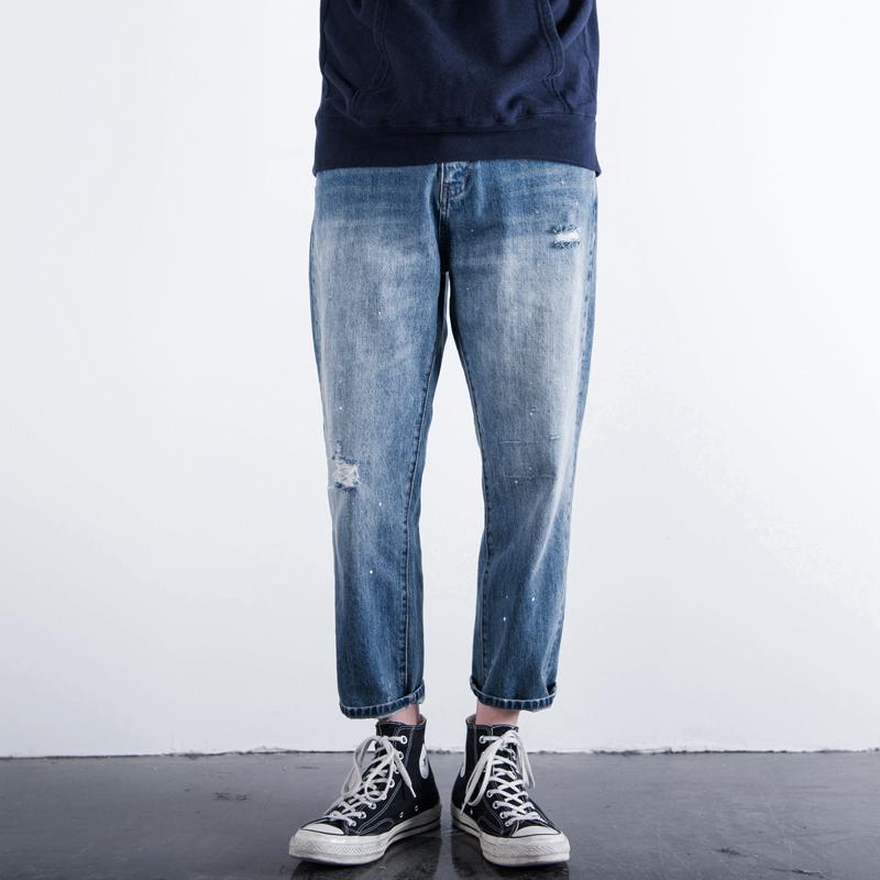 宽松牛仔裤男款长裤