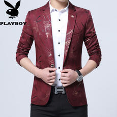 Playboy spring and autumn suit male Slim new Korean version of the small suit casual youth fashion jacket men's tide