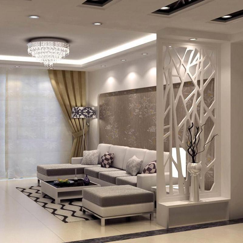 雕匠 现代高密度板镂空屏风 隔断 客厅奥松板花格通花玄关雕花板