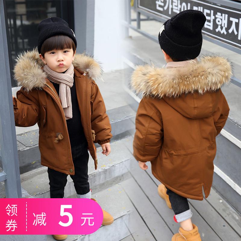儿童棉衣加厚男童羽绒棉服棉袄2018新款冬装宝宝韩版小童洋气外套