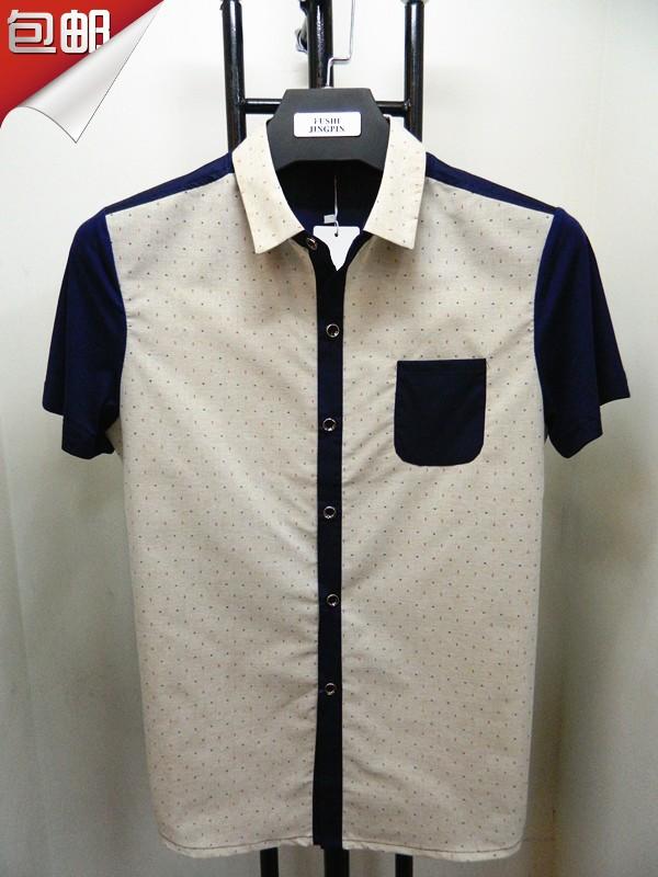 夏季半袖新款 男士短袖翻领T恤 男装小衫 全国包邮瑞克兰兹14505
