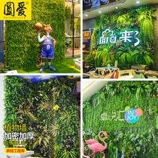 Simulation plant wall artificial turf turf green plant wall fake flower wall image background wall net red storefront door decoration