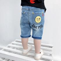 男童牛仔短裤2019新款宝宝夏装七分裤洋气小童儿童夏季裤子韩版潮